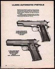 1989 LLAMA Large Frame Automatic Pistol Blue or Satin Finish AD ADVERTISING PAGE
