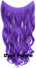 CW Hair-100g 24'' Wave Fish Line Hair Extensions Synthetic halo Hairpieces