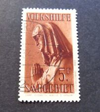 """GERMANIA,Germany Post Reich SARRE SAAR 1934 """" Beneficenza.Statue"""" 5F.Used Signed"""