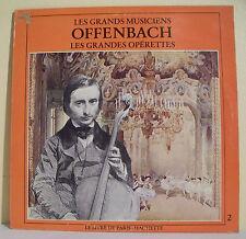 """33T OFFENBACH Disque LP 12"""" GRANDES OPERETTES - GRANDS MUSICIENS HACHETTE 79"""