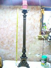 "TALL BRASS ALTAR CANDLESTICK GOTHIC STYLE 42""+  CHURCH CATHOLIC CATHEDRAL"
