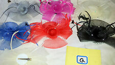 Joblot 12 pcs Feather & Sinamay Hair Fascinator on Hairclip NEW wholesale Lot Q