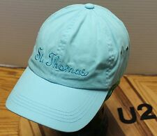 LIGHT BLUE ST. THOMAS HAT STRAPBACK ADJUSTABLE IN VERY GOOD CONDITION