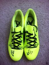 David Villa Autographed Adidas Cleats SPAIN NYCFC VALENCIA BARCALONA PROOF