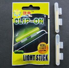 2 X CLIP ON FISHING ROD TIP LIGHTS / LIGHTSTICKS, SIZE: XXL, SEA FISHING