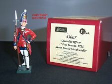 BRITAINS 43007 REDCOATS BRITISH 1ST FOOT GUARDS GRENADIER OFFICER 1755 FIGURE