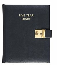 COLLINS 5 YEAR DIARY FIVE YEAR DIARY BLACK LEATHER LOOK LOCKABLE