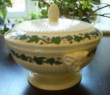 Wedgwood Stratford Cream Ware with Green Ivy Vegetable Tureen Covered Casserole
