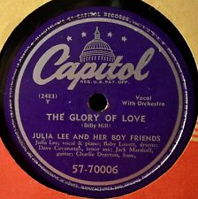 Julia Lee The Glory of Love 78 VG+++ Take It or Leave It Jazz Novelty Female Voc