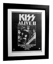 KISS+Alive II+2+POSTER+AD+RARE+ORIGINAL 1977+QUALITY FRAMED+FAST GLOBAL SHIP 2