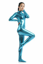 Metallic lycra Catsuit Womens Dance Wear Spandex Zentai Bodysuit