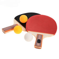 Pair Table Tennis Ping Pong Racket Paddle Bat with 3 Balls Outdoor Sports