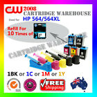 DIY Ink Refill Kit 10 Times for HP 564/564XL GENUINE Any Color Ink Cartridge