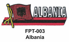 "1-1/2'' X 4-1/2"" ALBANIA Flag Embroidered Patch"