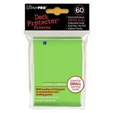 BUSTE yugioh ULTRA-PRO VERDE LIME SMALL 60 bustine 62mm x 89mm NUOVE SIGILLATE