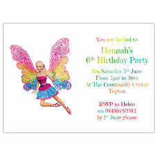 Personalised Birthday Party Invitations or Thank You Cards Barbie Fairy Secret 3