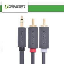 UGREEN 3.5mm Male to 2RCA 2xRCA M/M Aux Stereo L R Plug Audio Cable Cord - 1.5M