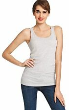 CAbi Size M Tank Heather Gray Essential Polyester Blend NWT Always Free Shipping