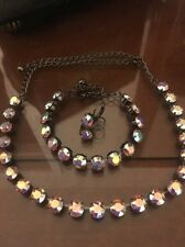 3pc jewelry set Swarovski crystal elements Necklace Bracelet Earrings