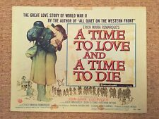A TIME TO LOVE AND A TIME TO DIE Original WAR Lobby Card JOHN GAVIN LILO PULVER