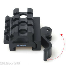 Quick Release Dual Rail (90 and 45 degree) Picatinny Riser Scope Angle Mount