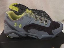 NIB MENS UNDER ARMOUR GLENROCK LOW HIKING SNEAKERS~TRAIL SHOES~11.5~gravel grey