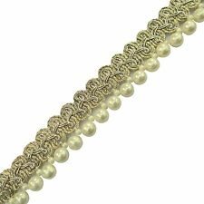 Pearl Beaded Trim 1.7 Cm Wide Braid Edgings Crafting Border Lace By The Yard