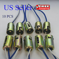 10x 1156 P21W 1073 1141 7506 BA15s Light Bulb Socket Holder Wire Harness