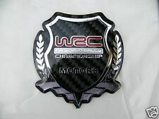 WRC World Rally Championship FIA Sports Real Carbon Fiber Auto Badge emblem