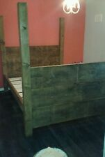 NEW SOLID WOOD RUSTIC CHUNKY PLANK KINGSIZE HIGH 4 POST BED ALL SIZES AVAILABLE