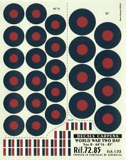 "Colorado Decals 1/72 RAF Type B Roundels/National Insignia -66""16 -84"" # 72085"