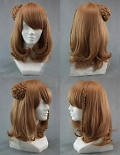 New wig Cosplay Medium AMNESIA Light Brown Heat Resistant Wig