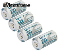 4X Olight CR123A 1600mAh 3.0V Li-ion Battery for Flashlight Torch