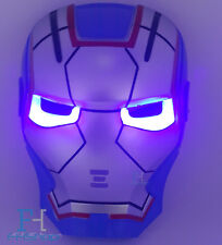 Superhero Avengers LED Mask Iron man Patriot Halloween Fancy Party Dress