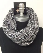 New fashion Infinity 1-Circle Cable Knit Cowl Neck Loop Scarf Wrap Soft Gray
