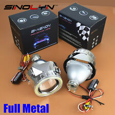 2.5'' Mini Metal H1 LED Angel Eyes Halo DRL HID Bixenon Projector Lens Headlight