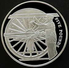 2004 Alderney Silver Proof £5 Golden Age of Steam Preparing Loco Royal Mint COA