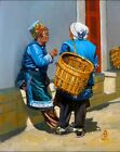 "ALIX BAKER PCAFAS ORIGINAL ""Bai women Dali Yunnan Province China"" OIL PAINTING"