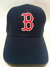 Boston Red Sox Applique Logo, Heat Applied on a Navy Blue cap hat! Adjustable!