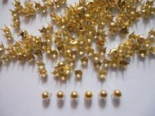 200 pcs Gold Tone Tiny Round Stud spot spike for apparel - size 3 mm