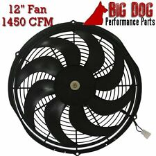 "12"" High-Performance S-Blade Radiator Fan 1450 CFM Reversible - Pusher or Puller"