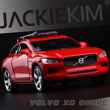 Red 1:32 Scale Volvo XC Coupe Diecast Model Car 1/36 Light & Sound 4-Door Open