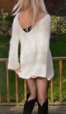 FREE PEOPLE 70% angora heavenly soft&fluffy white jumper women 10/12/ 14  38/40