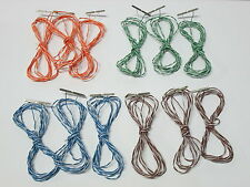 HO Scale Terminal Rail Joiners 12 Pairs / 5 Feet Leads / 24 Ga Wire 83 / 100 Atl