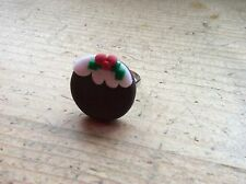 ring Pudding Adjustable Handmade Christmas Xmas Festive Party Stocking Filler