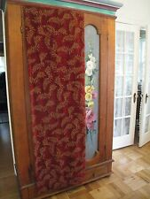 1~VELOUR DEEP RED CRANBERRY CURTAIN PANEL #73