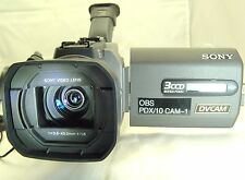 Sony DSR-PDX10 MiniDV Camcorder NTSC DVCAM 3 CCD battery AC adapter bundle
