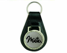 MAZDA MX5 MIATA BLACK LEATHER KEYRING