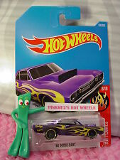 '68 DODGE DART #160✰purple; yellow flame✰HW FLAMES✰2017 i Hot Wheels case G