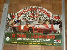 Affiche d'époque Critérium de Touraine PORSCHE 911  1982   sport car course auto